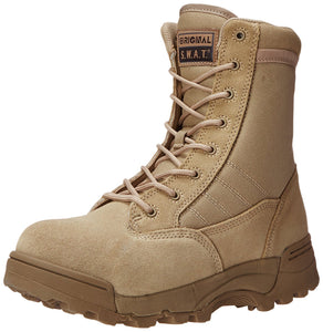 Original S.W.A.T. Men's Classic 9 Inch Side-zip Safety Tactical Boot - Tan