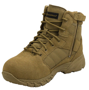 Smith & Wesson® Footwear Breach 2.0 Side Zip Tactical Boots - Coyote