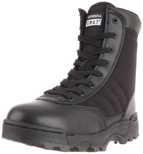 "Original S.W.A.T. Men's Classic 9"" Side Zip Work Boot - Black"