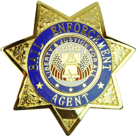 Tactical 365® Operation First Response Bail Enforcement Agent 7 Point Star Badge