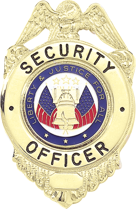 A6938 Security Officer Badge, Liberty & Justice Seal