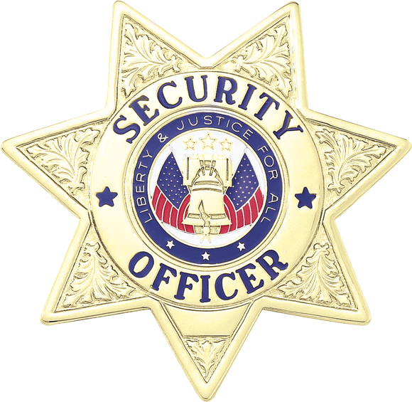 A7265 Security Officer 7 Point Star Badge