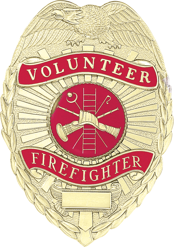 A8771 Volunteer Firefighter Shield Badge