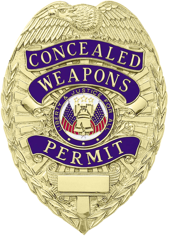 A9443 Concealed Weapons Permit Shield Badge
