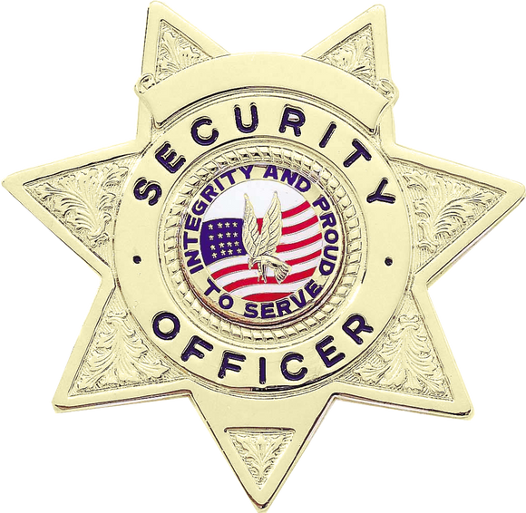 B2077 Security Officer Shield Badge