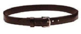 Leather Dress Belt 1 1/4 inches Wide - Nickel Buckle
