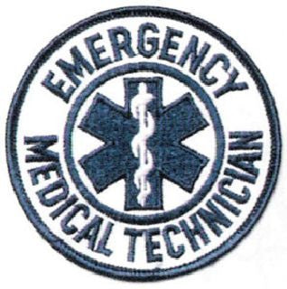 EMT/Fire Patches - Emergency Medical Technician - Round 3 1/2