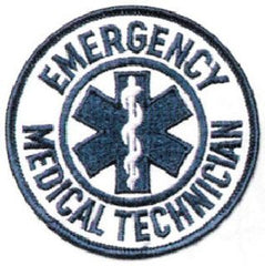 "EMT/Fire Patches - Emergency Medical Technician - Round  3 1/2 ""- 1 Pair"