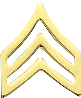 J130 Military Sergeant Collar Chevrons - Smooth (13/16