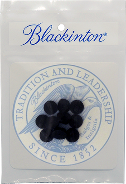 J134-A Blackinton Badge Rubber Clutch Backs - 10 Pack