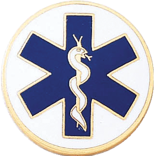 J194 Star of Life Lapel Pin (15/16