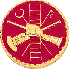 J200 Ladder Fire Scramble Red Collar Pin (15/16