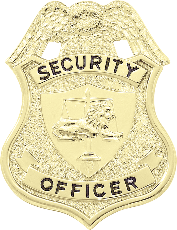 J304 Security Officer Shield with Eagle Badge