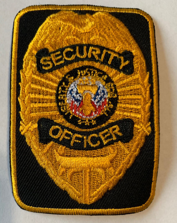 Rectangular Security Office Patch - Iron or Sew on - 1 Pair
