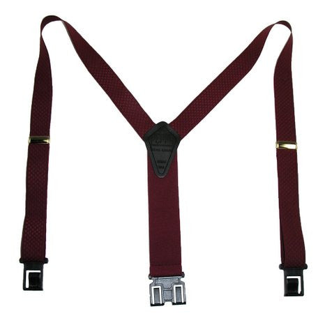Premium Dress Perry Suspenders (Burgundy Regular)