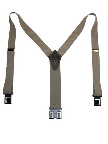 Premium Dress Perry Suspenders (Beige Tall)