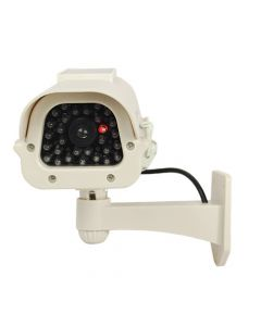 Solar Powered Dummy Camera White