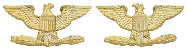 Collar Rank - Insignia Colonel ( Eagle ) Large 1  Inch Gold Plated
