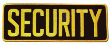 SECURITY Large Uniform Jacket Back Patch 11