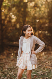 The Mini Camille Skort in Rose Gold Lurex - aryanaclothing