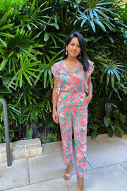Juniper Jumpsuit in Coral - aryanaclothing