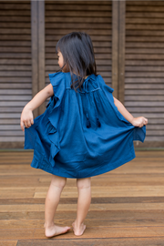 Navy Mini Dilan Pointe Dress - aryanaclothing