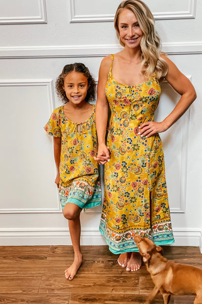 Marigold Slip Dress Mama - Aryana Clothing