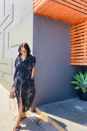 Caftan in Black - aryanaclothing