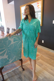 Teal Mama Caftan - Aryana Clothing