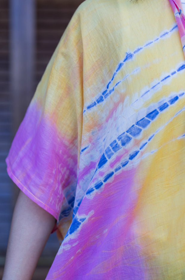 The Krish Tie Dye Cover Up in Sunset - aryanaclothing