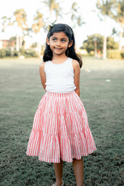 The Mini Ana Skirt in Carnation Stripes - aryanaclothing