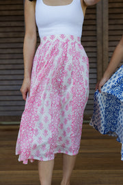 The Sahana Panel Skirt in Pink - aryanaclothing