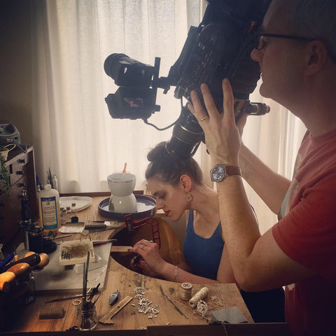 Ruth Mary Jewellery studio filming BBC1