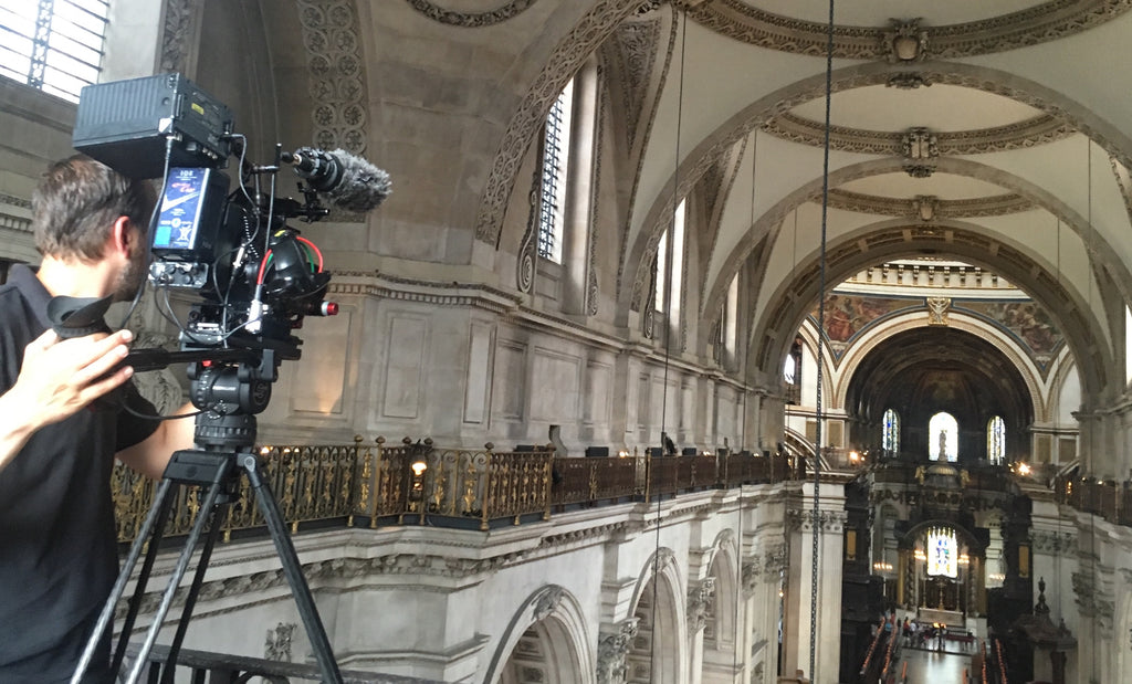 Filming Songs of Praise at St Paul's Cathedral