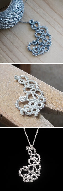 Tatted lace, reborn in solid sterling silver