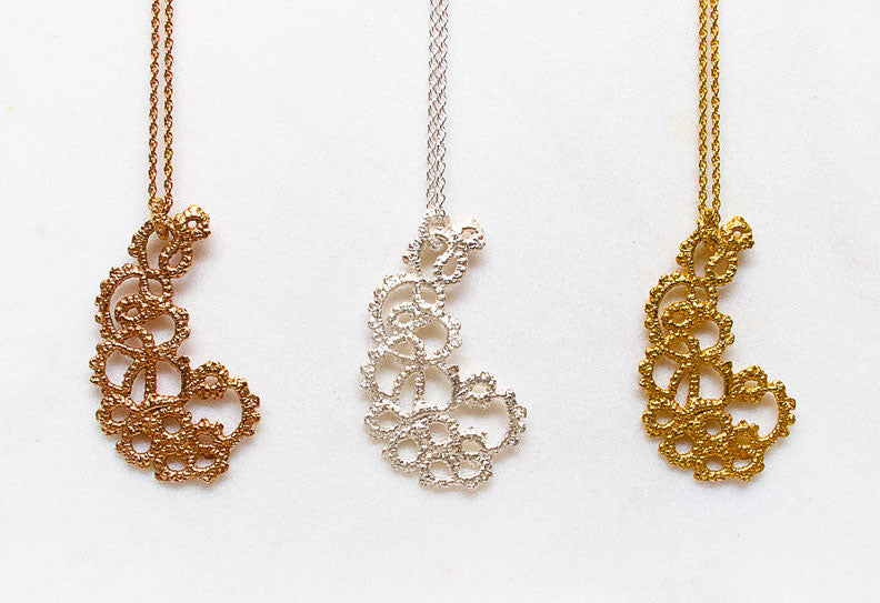 Paisley Lace Necklaces