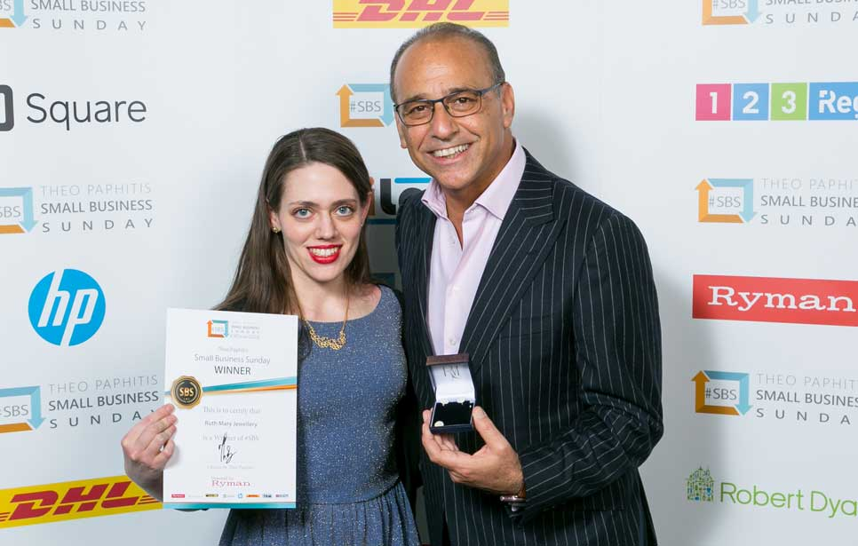 Ruth Mary creates sterling silver cuff links for Theo Paphitis