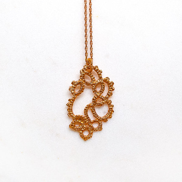 rose gold lace necklace