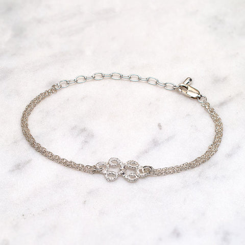 Entwined Handmade Silver Lace Bracelet