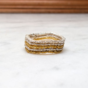 The Stitch-Stack Ring Set (set of five)
