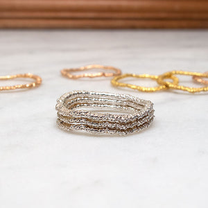 The Stitch-Stack Ring Set (set of three)