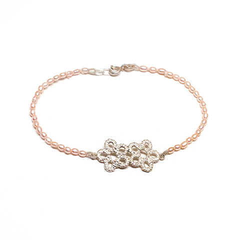 Forget-Me-Not Pearl Bracelet