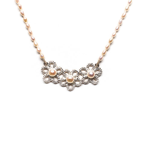 Forget-Me-Not Pearl Garland Necklace