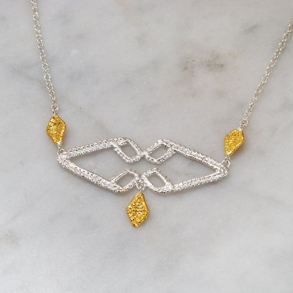 gold and silver two-tone necklace