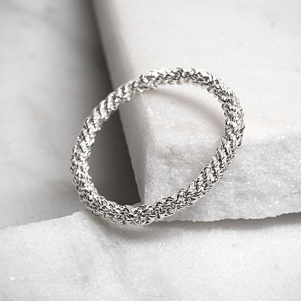 Stitched In Silver Ring