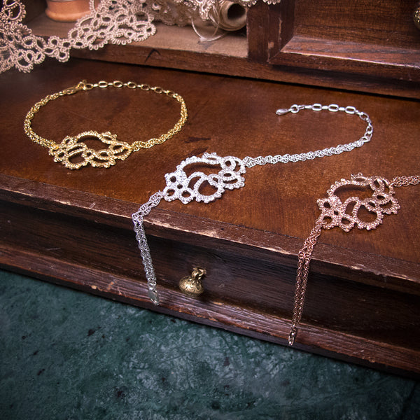 filigree detail lace bracelet