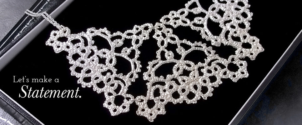 'Silver, Knot Lace' collection, by Ruth Mary Jewellery
