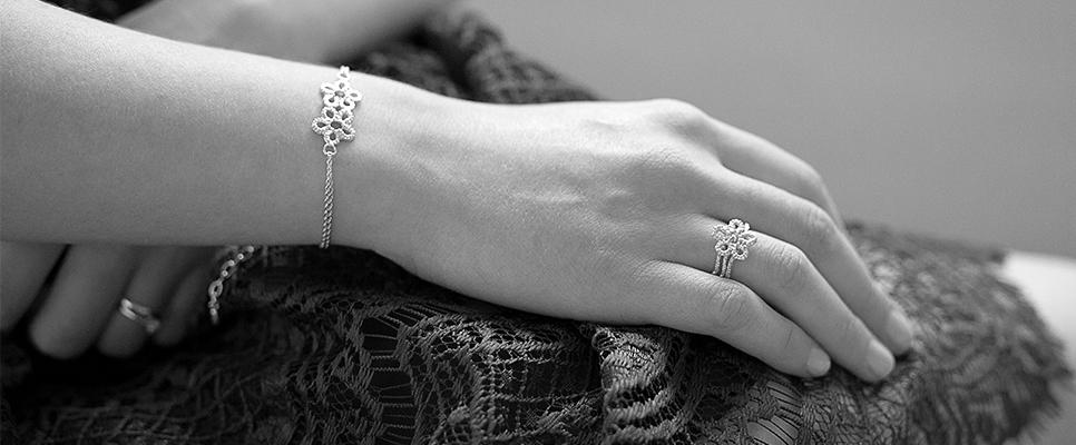 Beautifully crafted lace, reborn in sterling silver