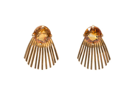 Citrine Spike Earrings by Deakin and Francis