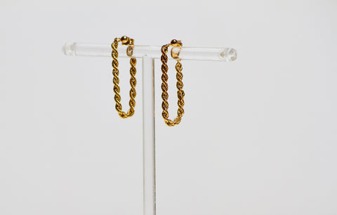 Golden Rope Hoops